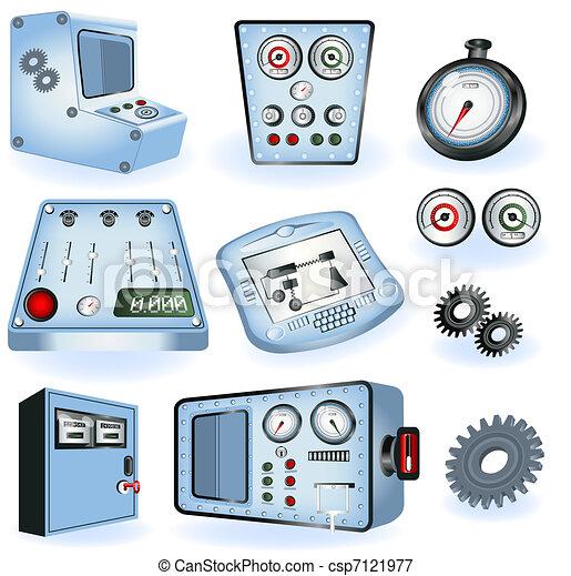 machine, opérateurs, -, électrique, contro - csp7121977