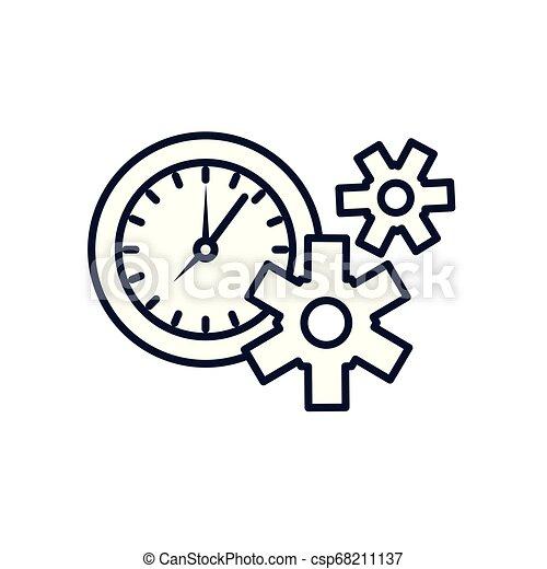 machine, pignons, temps, engrenages, horloge - csp68211137