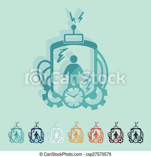 machine, plat, design:, temps - csp27570579