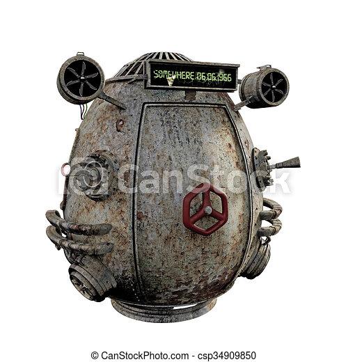machine, rouillé, temps - csp34909850