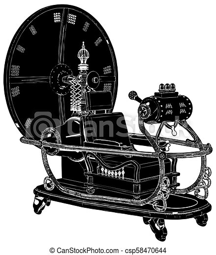 machine temps, 03, vecteur - csp58470644