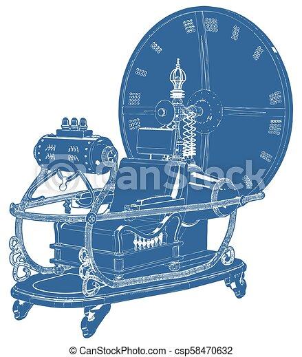 machine temps, 06, vecteur - csp58470632
