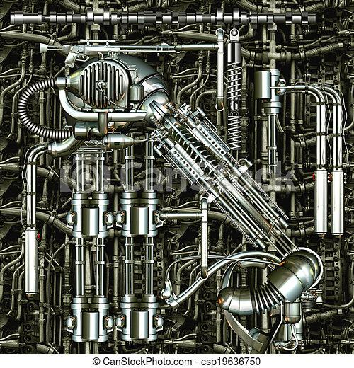 machine, temps - csp19636750