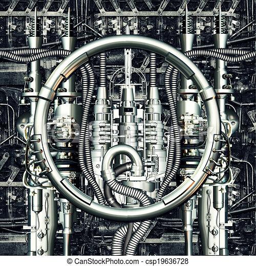 machine, temps - csp19636728