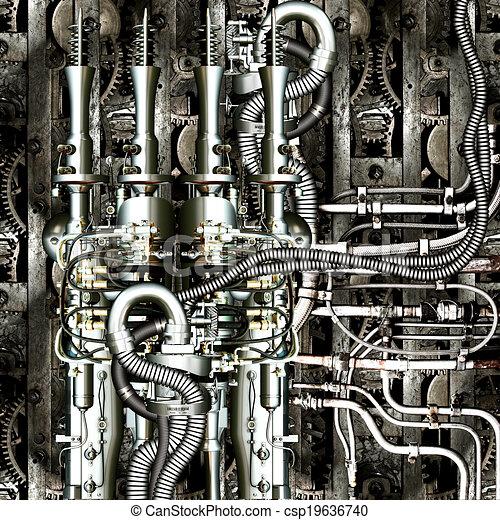 machine, temps - csp19636740