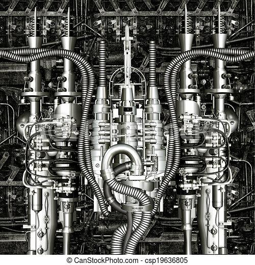 machine, temps - csp19636805