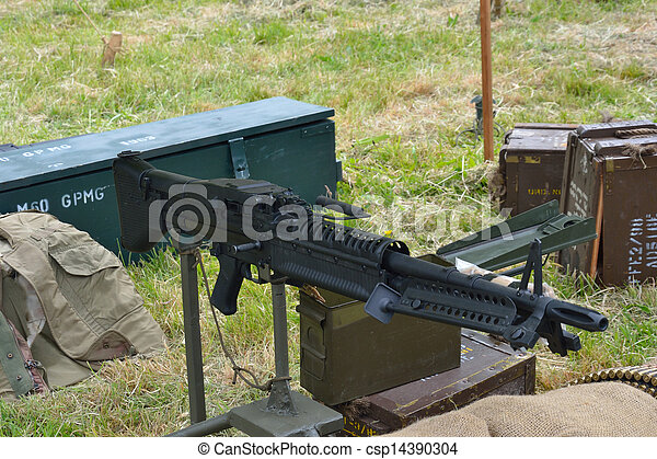 machine, temps, guerre, fusil - csp14390304