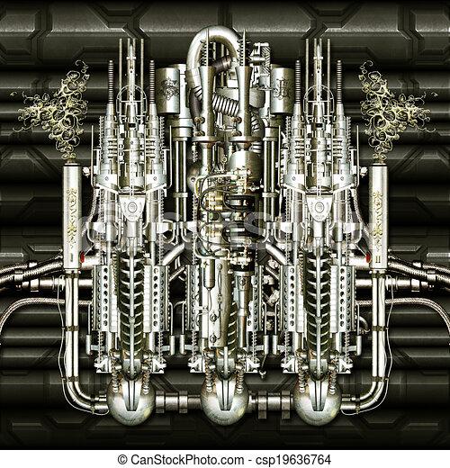 machine, temps - csp19636764