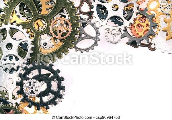 machine, temps, roues - csp90964758