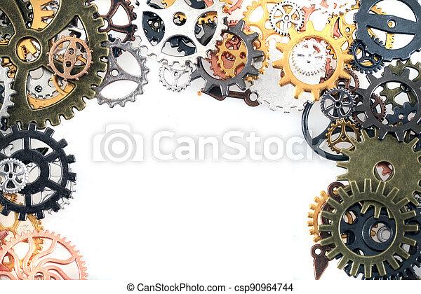 machine, temps, roues - csp90964744