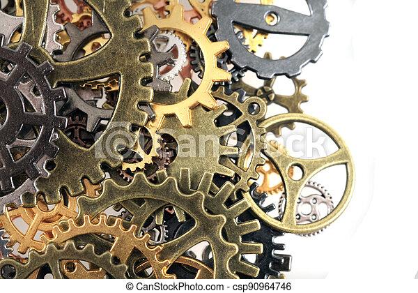 machine, temps, roues - csp90964746