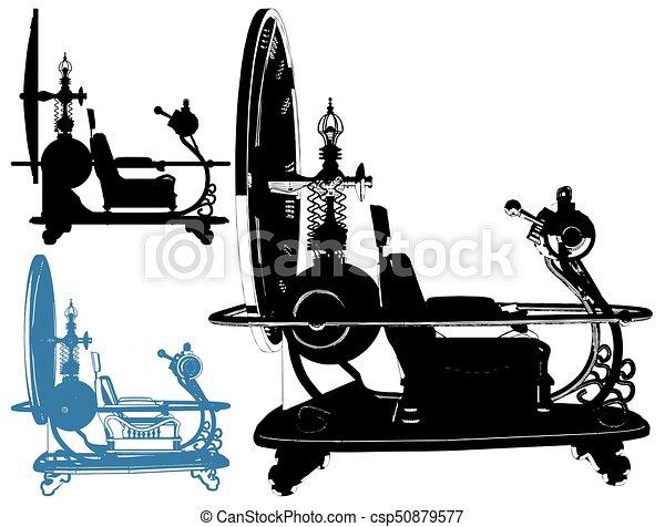 machine temps, vecteur, 01 - csp50879577
