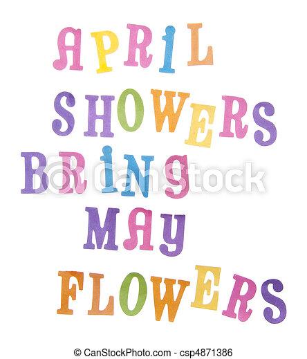 mai, avril, fleurs, douches, apporter - csp4871386