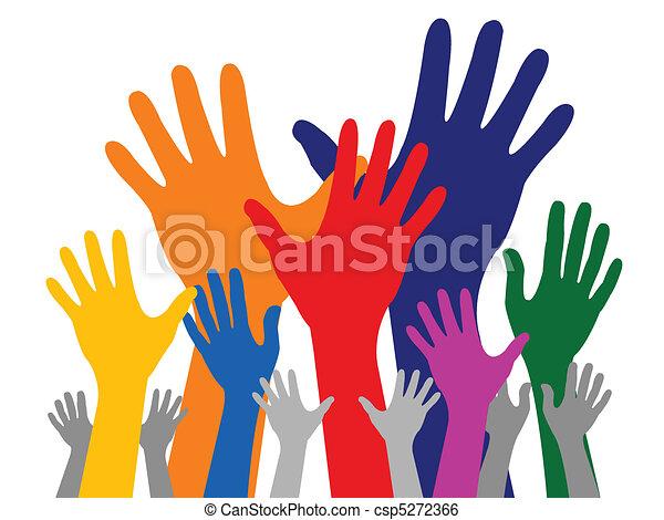 main, coloré - csp5272366