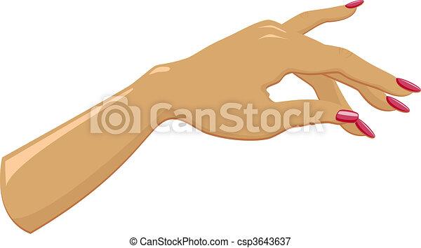 main, femme, manucuré - csp3643637