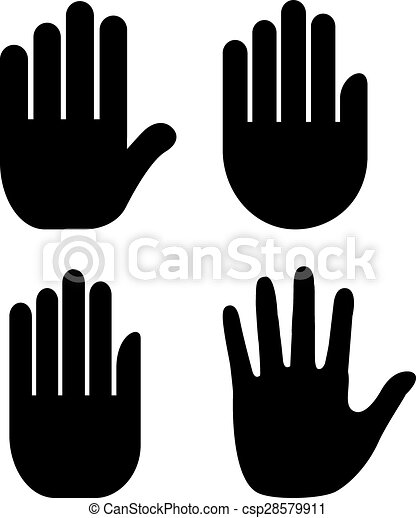 main, paume, icône - csp28579911