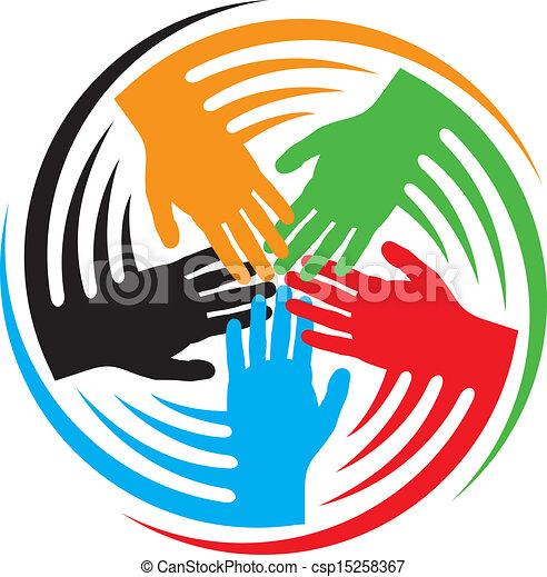 mains, collaboration, icône - csp15258367