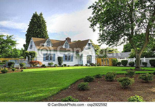 maison, arbre, famille - csp2922592