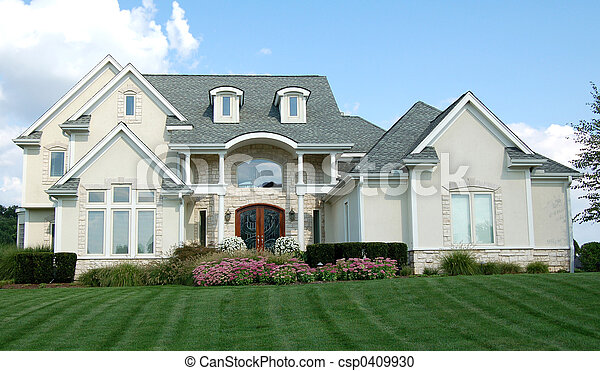 maison, deux-histoire - csp0409930