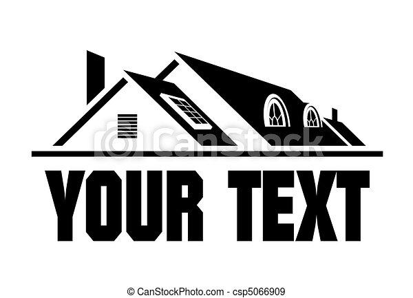 maison, icône - csp5066909