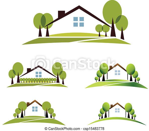 maison, jardin - csp15483778