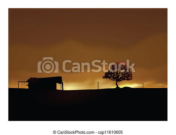 maison, solitaire - csp11610605