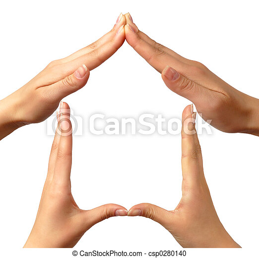 maison, symbole - csp0280140