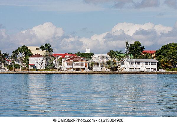 maisons, belize, côtier - csp13004928