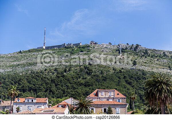 maisons, sur, forteresse, dubrovnik - csp20126866