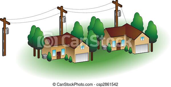 maisons, voisinage - csp2861542