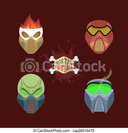 mal, paintball, masque, ensemble - csp26016478