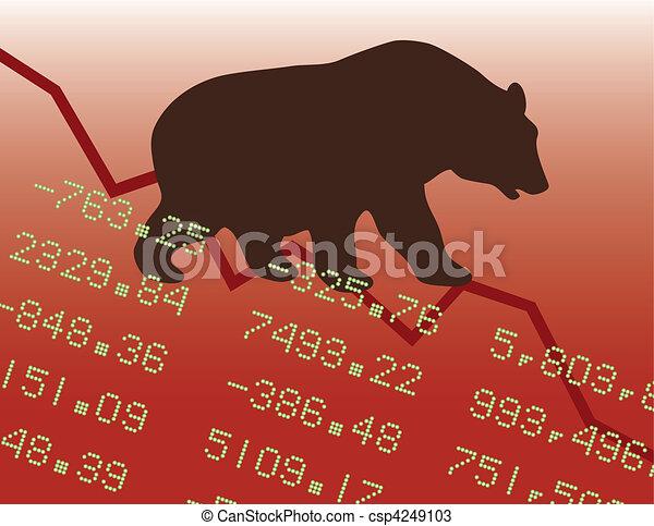 marché baisse, rouges - csp4249103