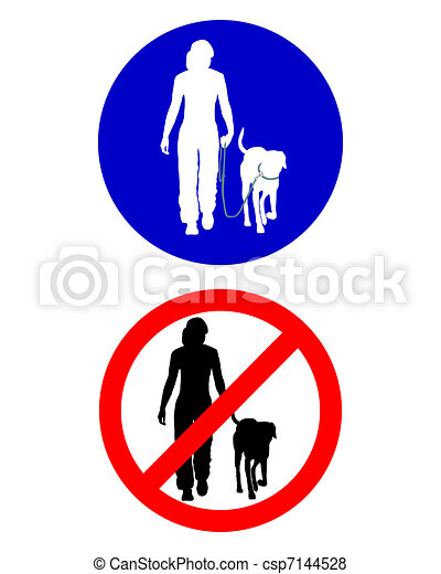 marche, trafic, chien, signes - csp7144528