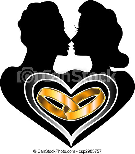 mariage, amour - csp2985757
