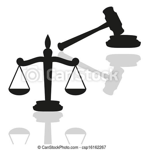 marteau, balances, justice - csp16162267