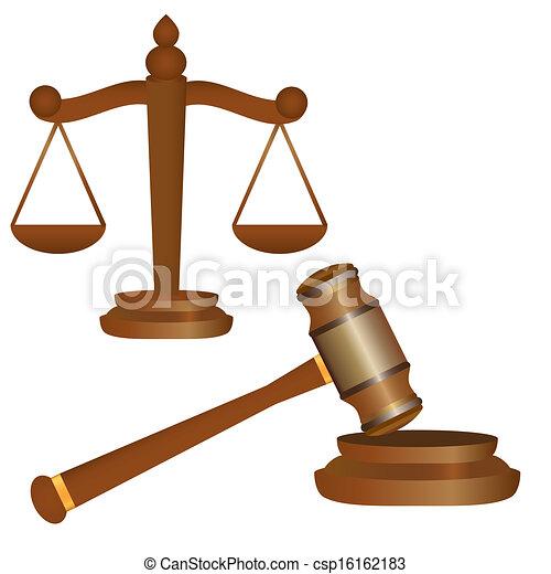 marteau, balances, justice - csp16162183