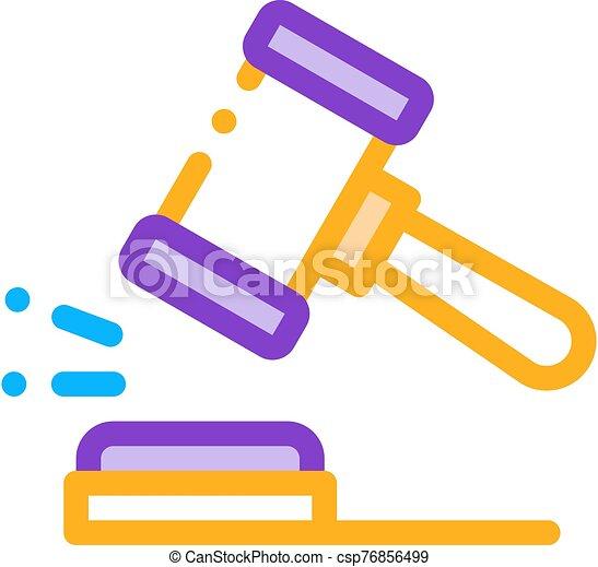 marteau, droit & loi, jugement, tribunal, vecteur, icône, illustration - csp76856499