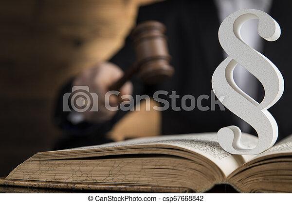 marteau, droit & loi, justice, thème, tribunal, paragraphe, maillet - csp67668842