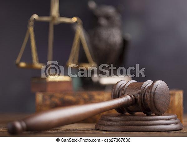 marteau, droit & loi, thème, juge, maillet - csp27367836