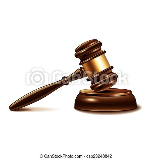 marteau, juge, blanc, vecteur, isolé - csp23248842