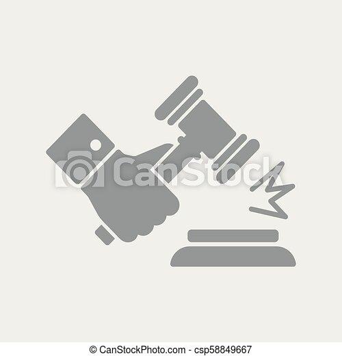 marteau, jugement, geste - csp58849667