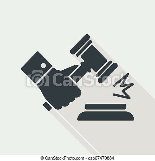 marteau, jugement, geste - csp67470884