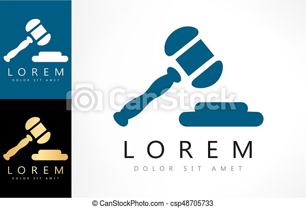 marteau, logo., tribunal - csp48705733
