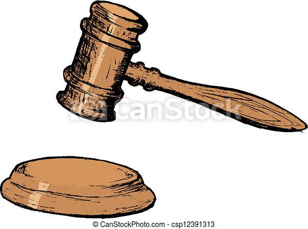 marteau, tribunal - csp12391313
