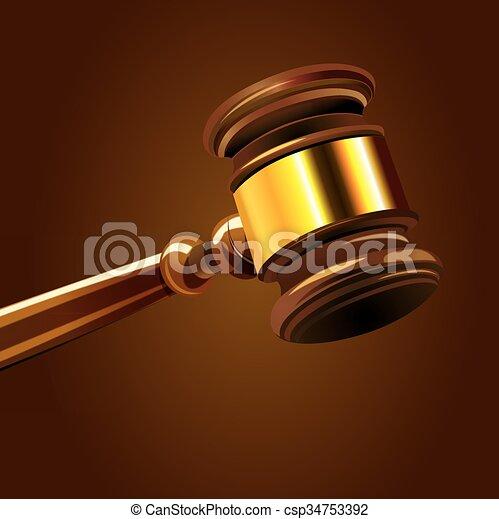 marteau, tribunal - csp34753392