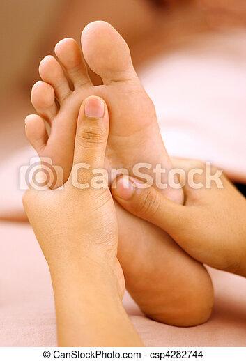 massage pied - csp4282744