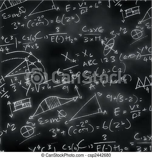 maths, panneau craie - csp2442680