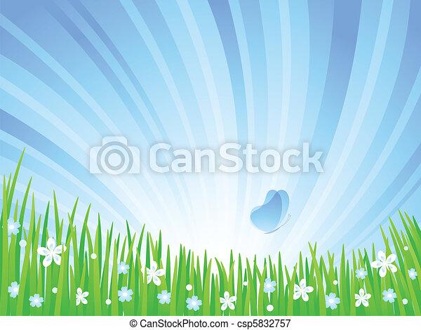 meadow., printemps - csp5832757