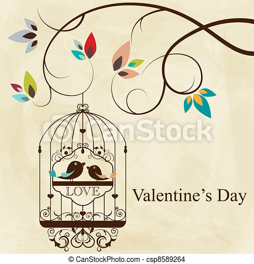 mettez cage oiseau - csp8589264