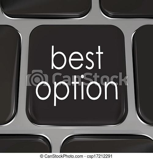 mieux, clã©, informatique, mieux, clavier, sommet, choix, option - csp17212291